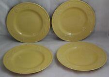 "Lenox POPPIES RAINBOW YELLOW Salad Desert Plate 8"" EUC (FOUR PLATES)"
