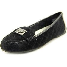 Zapatos planos de mujer de color principal negro de ante talla 41