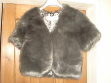 designer duchess grey charcoal faux fur jacketsize small 8 to 10 rrp £110 bnwt