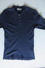 S.OLIVER T-Shirt blau 164, Rippshirt marine A 11 / 12, Top m Knopfleiste,S 42 44