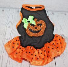 SimplyDog Halloween Pumpkin Dress Size Small