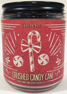 BRAND NEW Bath & Body Work's White Barn Single Wick Candle Crushed Candy Cane