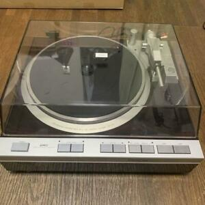 """Denon DP-47F Turntable Direct Drive Turntable Vintage """"Tested"""" Brown From Japan"""