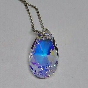 Swarovski Crystal Clear AB 28mm Pear 6106 Suncatcher/ Ornament/ Prism