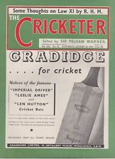 THE CRICKETER CLASSIC WEEKLY CRICKET MAGAZINE ~ 13 AUGUST 1938