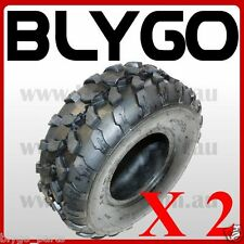 "2X QIND 4PLY 19 X 7.00 - 8"" inch Front Chunky Tyre Tire Quad Dirt Bike ATV Buggy"