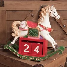 Large Christmas Rocking Carousel Horse Countdown Calendar Traditional Victorian