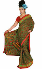 mousseline Bollywood Carnaval SARI ORIENT INDE fo361