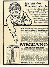 Je suis le Meccano-jeune Modélisme historique annonce 1913