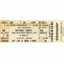 MATCHBOX TWENTY Full Concert Ticket Stub LA 6/14/03 MORE THEN YOU THINK YOU ARE