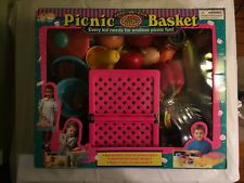 Picnic basket play set with food