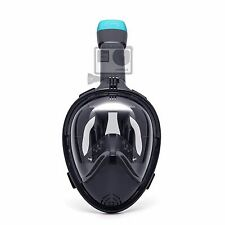 Snorkel Mask Set Full Face Design - GoPro Mount - 180° Panoramic View-USA Stock