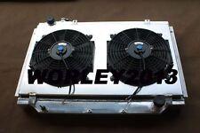 Aluminum radiator & shroud fan for 80 Series Landcruiser 1HZ Diesel & 1HDT Turbo