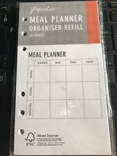 Meal Planner - Filofax Organiser Refill - 50 pages - back/front sided - New