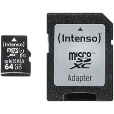 Intenso micro SD Card 64gb UHS-I, incl. adaptador SD Professional tarjeta de memoria