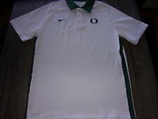 "Nike Dri Fit Uo University of Oregon Ducks Green ""O"" White Golfing Polo Shirt"