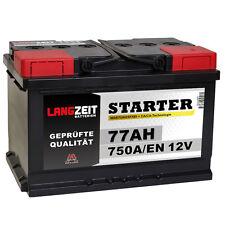 LANGZEIT Autobatterie 12V 77Ah 750A/EN ersetzt 68AH 70AH 72AH 74AH 75AH 80AH