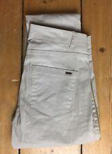 Ladies Super Slim IKKS Jeans Stone Gold Trim Lightweight Summer Trouser W26 L32