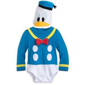 NWT Disney Store Baby Boy Donald Duck Halloween Costume Bodysuit Many Sizes