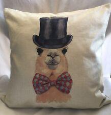 18 Inch Fashion Top Hat Llama Pillow Case/Bow Tie/zipperclosure /Home Décor/Cute