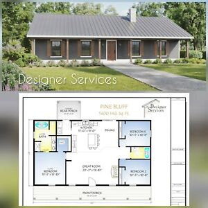 The Pine Bluff Home House Building Plans 1400 Sq Ft