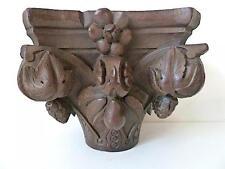 Socle colonne décoratif XIX Bois sculpté carved wood Holz geschnitzt