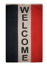 3x5 Advertising Welcome Sign Vertical Store Flag 3'x5' Banner Grommets