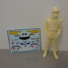 """Ferrari 312 T4 Jody Scheckter """" Resin Figure + Decals + Visor """" 1/18"""