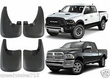 Custom Molded 2009-2016 Dodge Ram Mud Flaps Front + Rear New Free Shipping USA