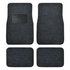 Carpet Car Floor Mats - Set of 4 Driver Passenger and Utility Pads - Dark Gray