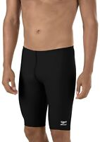 SPEEDO Mens Boys Endurance+ Polyester Solid Jammer Swimsuit Trunks Size 28
