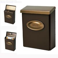Bronze Wall Mount Black Mail Box Heavy Duty 2 Keys Lock Large Capacity Mailbox