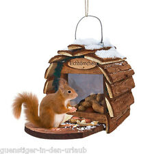Vogelhaus für Eichhörnchen  Vogelhäuschen Vogelfutterhaus Futterhaus Häuschen