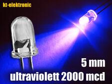 50 Stück LED 5mm UV ultraviolett ultrahell