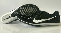 Nike Zoom Victory 3 Track Running Spikes Black White Volt SZ 12 ( 835997-017 )