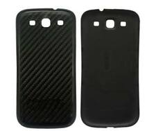 Carbon Fiber Back Battery Cover Case Door For Samsung Galaxy SIII S3 i9300 Black