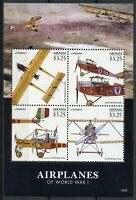 Grenada 2015 MNH WWI WW1 Airplanes First World War I 4v M/S Aviation Stamps