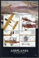 Grenada 2015 MNH WWI WW1 Airplanes First World War I 4v M/S Aviation Stamps