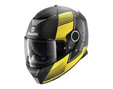 Shark Spartan Arguan Motorcycle Full Face Helmet KYA - Black / Yellow