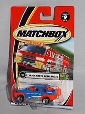 Matchbox MBX 2001 Team Tundra Series #9 Land Rover Freelander Blue & Orange