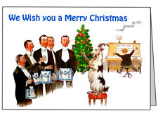 Christmas Cards with Masonic Humor -  Pack of 5 different Humor card landscape