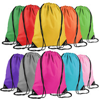 School Drawstring Sack Bags Sports Gym Swimming P.E. Kids Shoe Backpack Travel