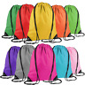 School Drawstring Bag Sport Gym Sack Swim PE Sports Backpack Waterproof Rucksack