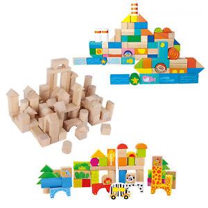 XXL Holzbausteine SET Bauklötze verschiedene Sorten Natur, Zoo oder Unterwasser