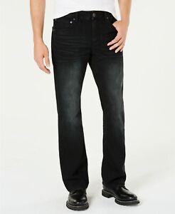 New INC International Concepts Men's 38x34 Copenhagen Bootcut Black Wash Jeans