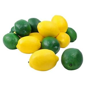 6/10pcs Limes Lemon Lifelike Artificial Plastic Fake Fruit Imitation Home Party