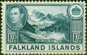 Falkland Islands 1938 1s Dull Blue SG158a Fine Very Lightly Mtd Mint