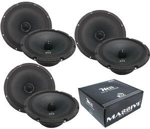 "3 Pair of Massive Audio M8 8"" 1800 Watts 8 Ohm Mid Bass Bullet Loud Speaker"