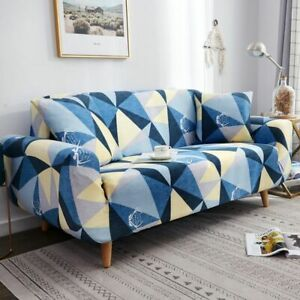 Printed Sofa Covers Stretch For Living Room Couch Cover Elastic Slipcovers