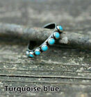Fashion 925 Silver Rings Women Turquoise Wedding Jewelry Ring Gift Size 6-10